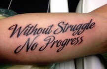 Without Struggle…No progress