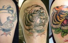 Cover-up tijger