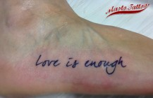 Love is enough…